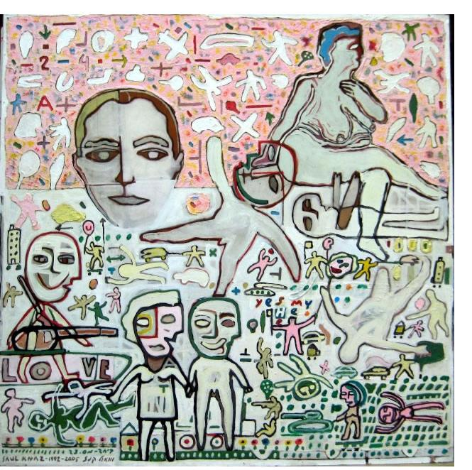 Shaul Knaz :'Together #23', 1992-2005, Mix technique on PVC