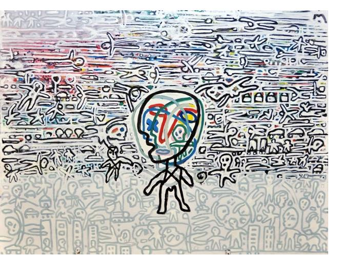 Shaul Knaz :'Maybe Me Too', 2015, 115 X 150 cm