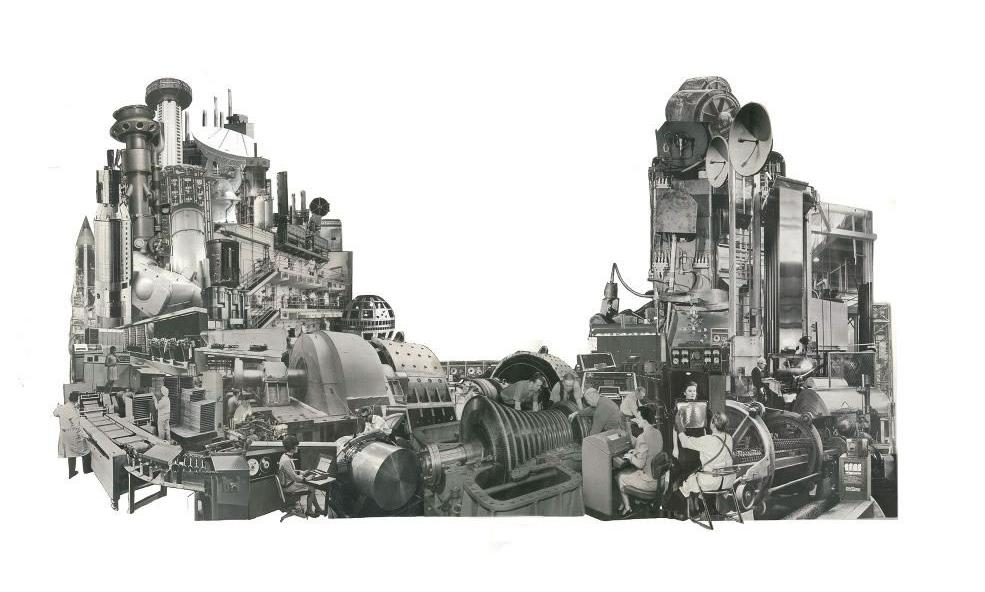 Morgan Lappin : 'The Machine II' (Unframed: 23 x 13) Framed: 29 x 21