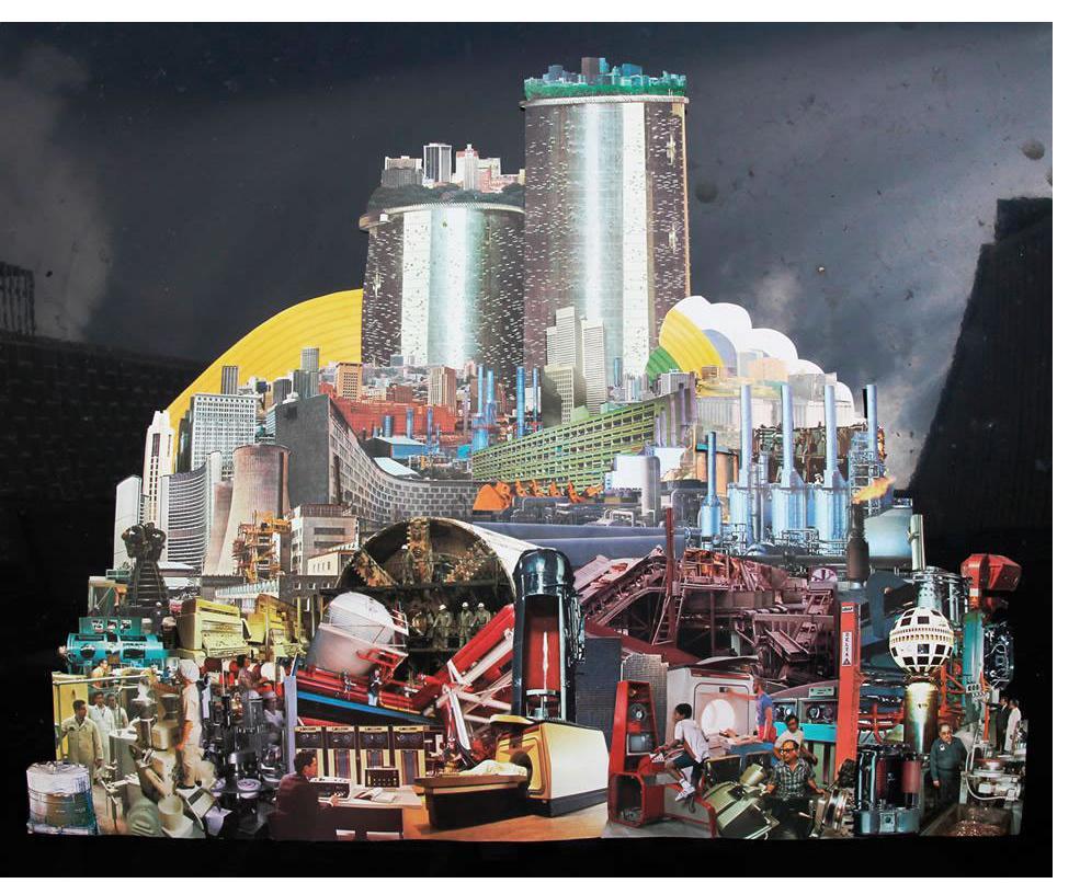 Morgan Lappin : 'The Machine III' (Unframed: 25 x 20) Framed: 33 x 27