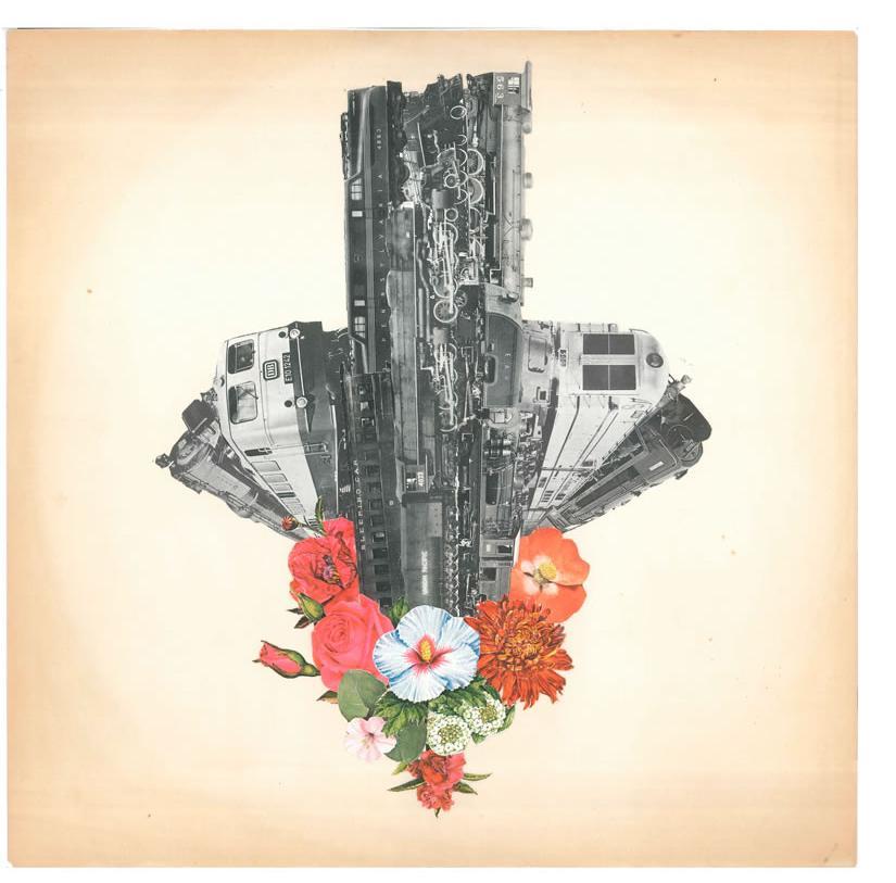 Morgan Lappin : 'Train Spotting' (Unframed: 12 x 12) Framed: 13 x 13