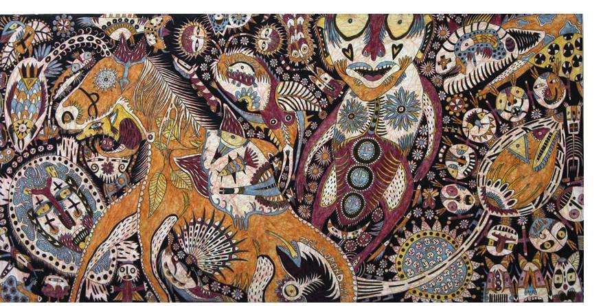 Joel Lorand - 'Untitled' 2013  mixed media on card  40 x 80 cm