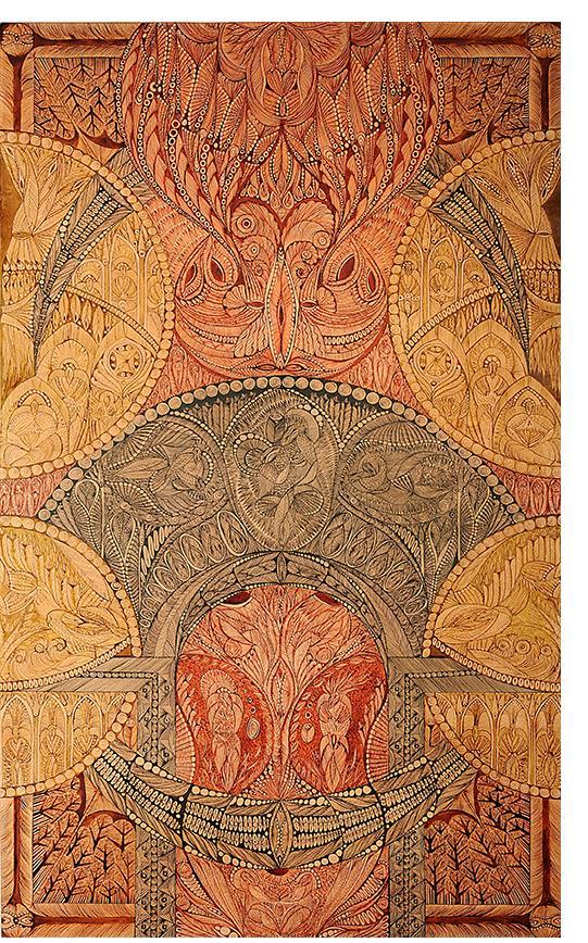 """Margot: Série Dies noctes """"Vivamus M Noctibus"""" ink on paper, 130x80cm"""