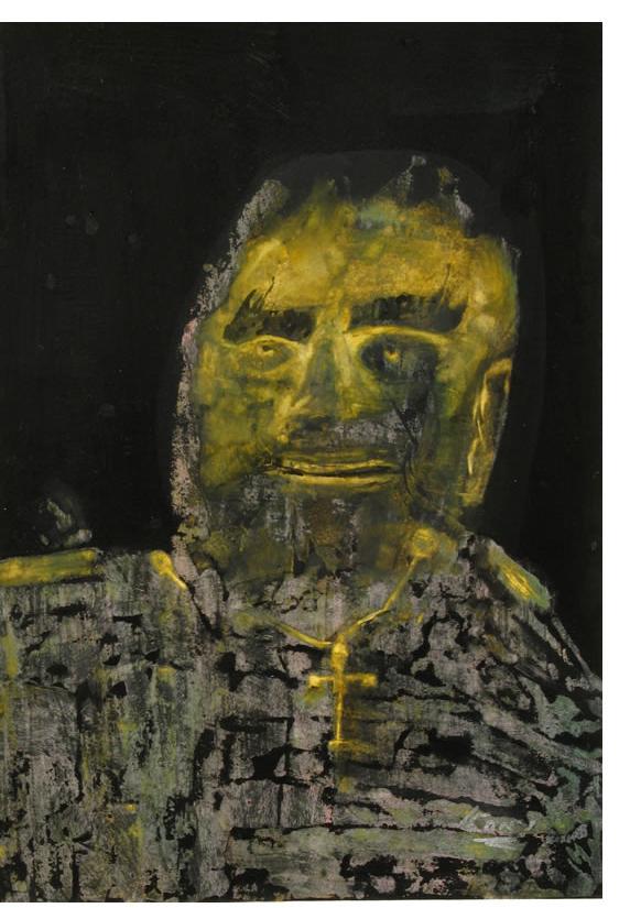 Leon Martindale :'Captain Porne' c.2007  watercolour on paper  11.75 x 16.5 ins