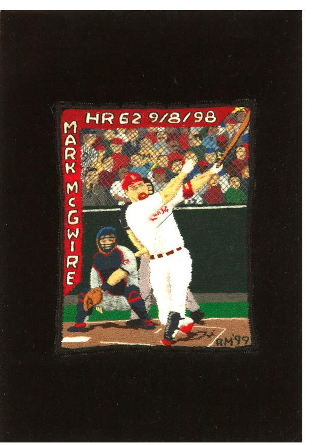 Ray Materson :'Joe DiMaggio' 2009, 2 x 3.75 ins