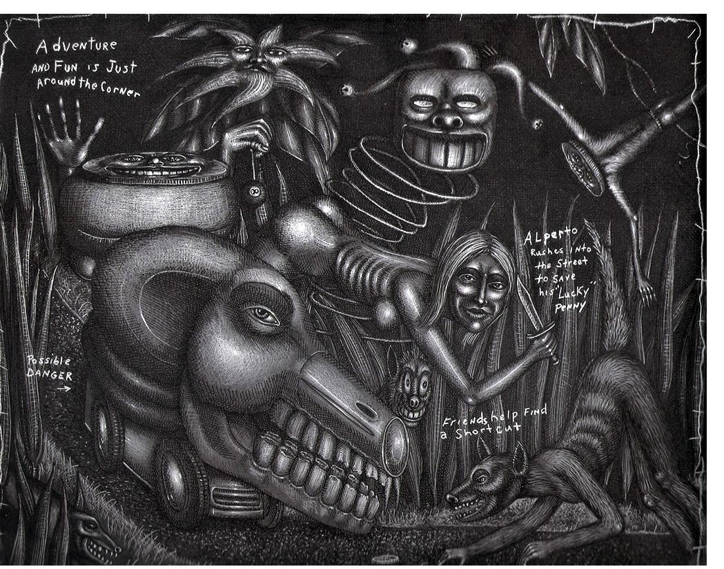 Tom McKee:'Untitled'- Visionary Art