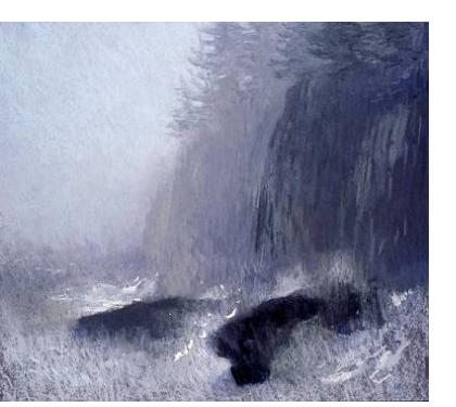Michael Bennallack-Hart - 'Rain on the Coast' - pastel on paper, 20 x 21.5 ins