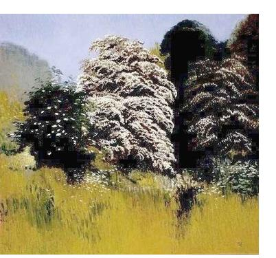 Michael Bennallack-Hart - 'May, Kew Gardens' - pastel on paper, 20 x 21.5 ins