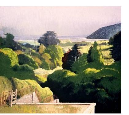 Michael Bennallack-Hart - 'Gardens at Penrice' - pastel on paper, 20 x 21.5 ins
