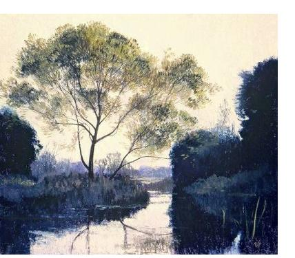 Michael Bennallack-Hart - 'Valley of the Kennet' - pastel on paper, 14 x 16 ins