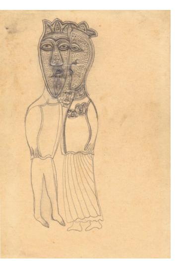 Edmund Monsiel :'Untitled' - Outsider Art