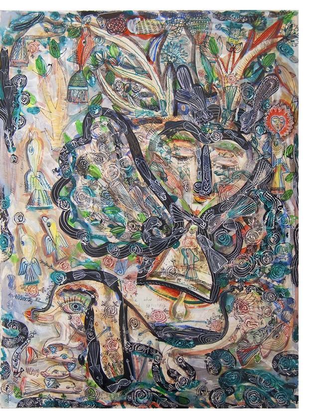 Jasna Nikolic - 'Loyal Heart', 2010, 75x57 cm, mix media on paper