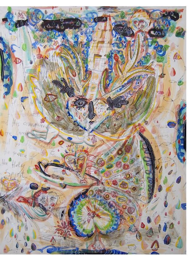 Jasna Nikolic - 'On Love', 2011, 75x57 cm, mix media on paper.