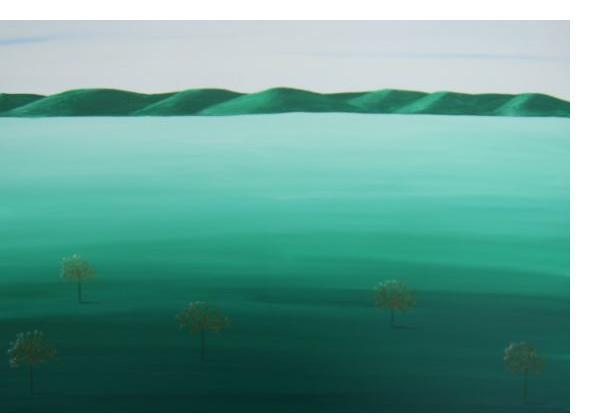 Kim Noble - Patricia - Green leaves- Outsider Art