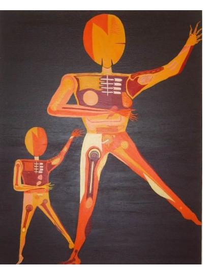 Kim Noble - Row Bonny - Mother and Child - Outsider Art