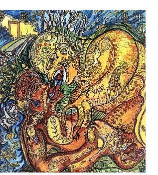 Ody Saban: 'Kiss Me' - 1998, ink & watercolour
