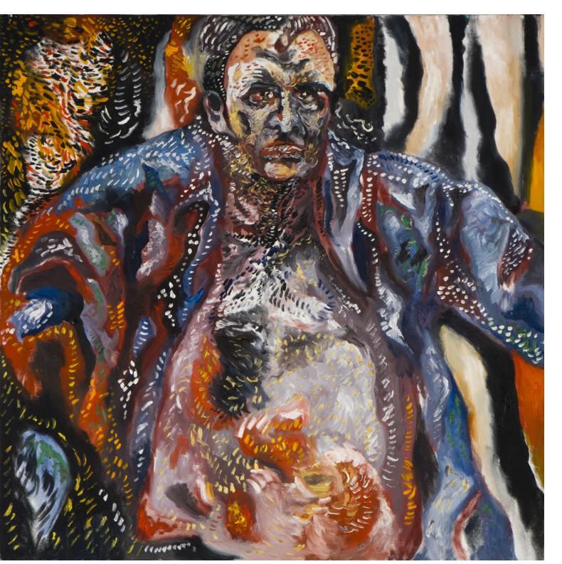 Noam Omer 'Portrait of A.D.' 90 x 90cm, Oil on Canvas
