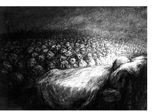 Paul Rumsey - 'Procession Dream', 1999, 55 x 75 cm- British Artist