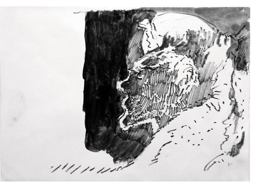 Mervyn Peake :'Untitled' c.1960  ink & wash on paper  7 x 10 ins