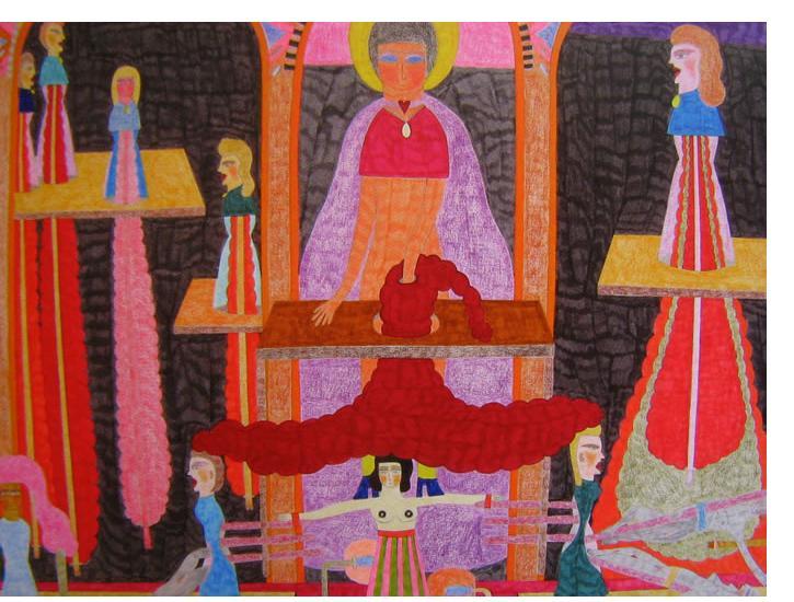 Marilena Pelosi - 'Untitled', 2006, 24 x 16 ins, crayon & pencil