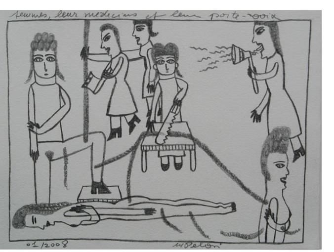 Marilena Pelosi - 'Untitled', 2010, 4.25 x 5.95 ins, crayon & pencil