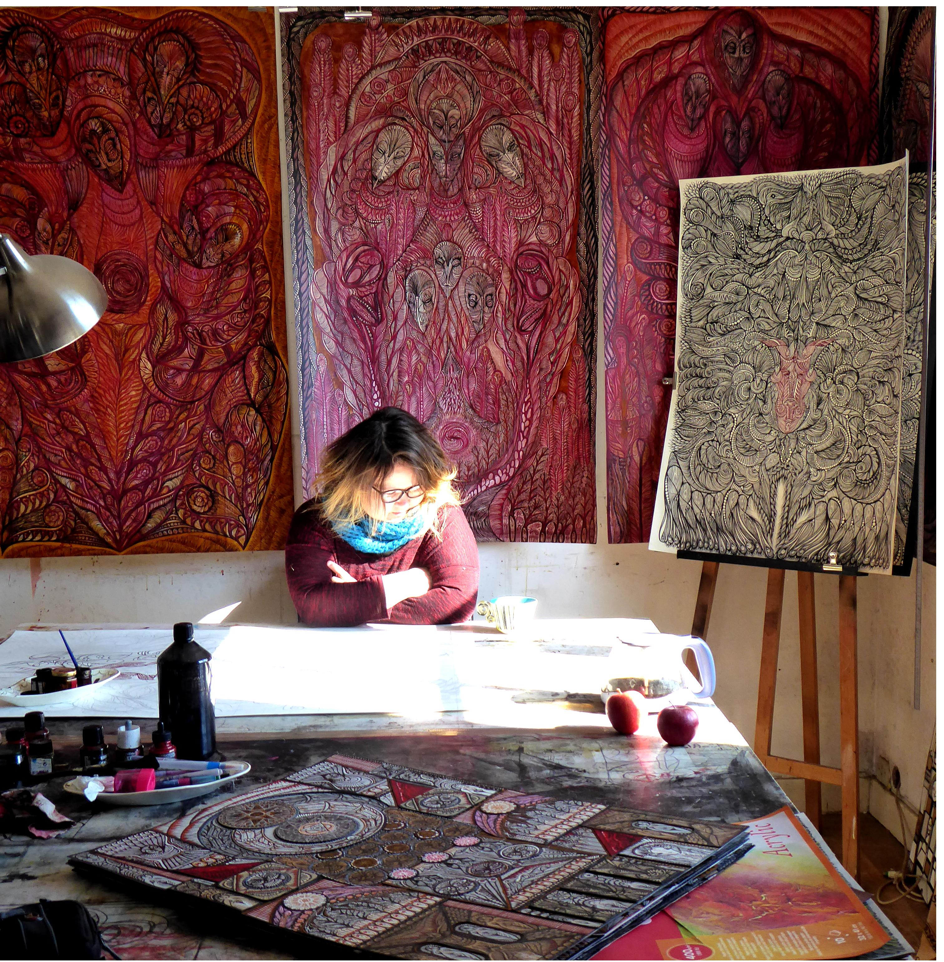 Margot in her atelier