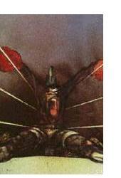 Ralph Steadman: 'The Fall of Ali' - 1978, ink & watercolour, 24 x 34 ins
