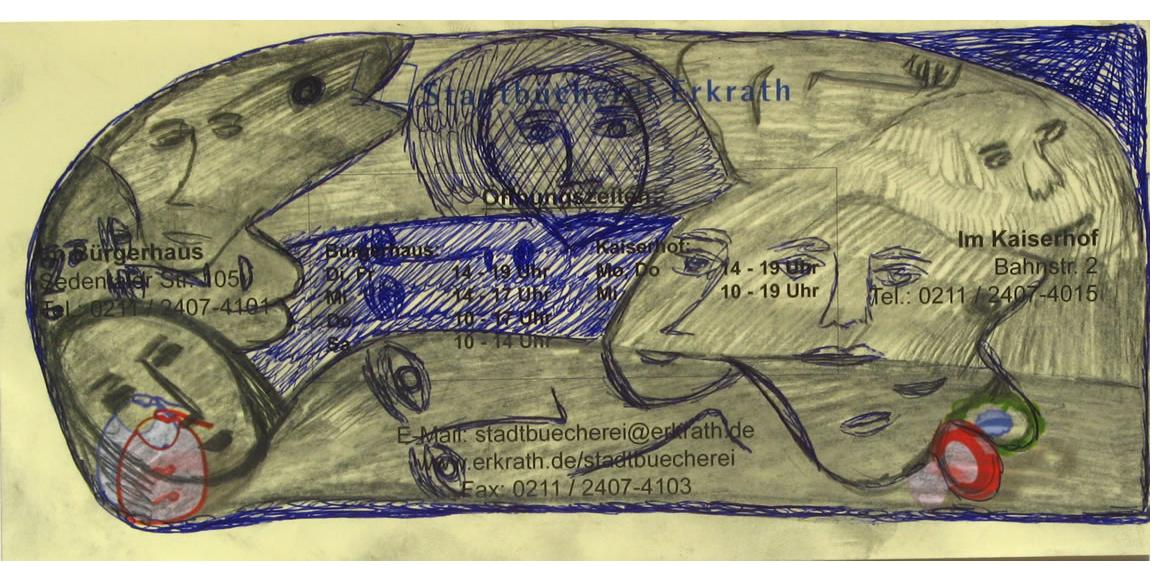 Mehrdad Rashidi :'Untitled'  ink & pencil  4 x 8 ins