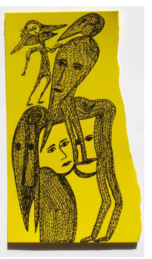 Mehrdad Rashidi :'Untitled'  ink  7.5 x 4 ins
