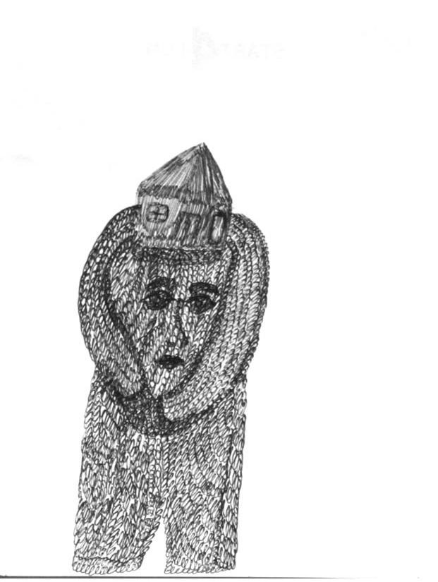 Mehrdad Rashidi :'Untitled'  ink  5.25 x 4 ins