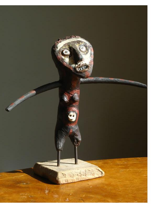 Richard Smith :'Totem Figure' found wood 8.5 ins high