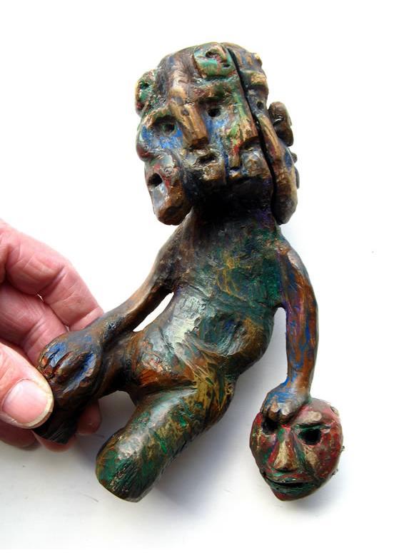 Richard Smith :'Untitled' 2012, found wood 8.5 ins high