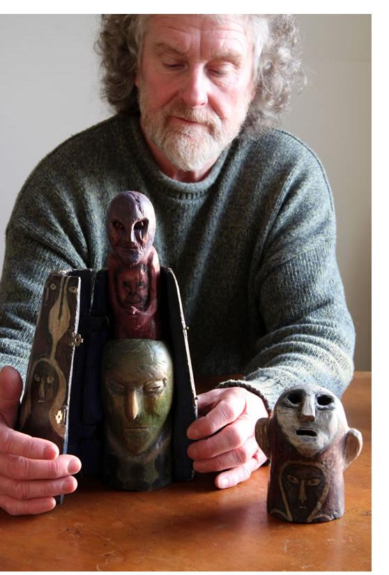 Richard Smith :'The Collector' 2013 found wood height 14.5 ins