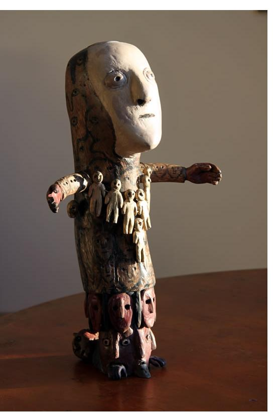 Richard Smith :'Time Bearer' 2014 found wood height 16 ins