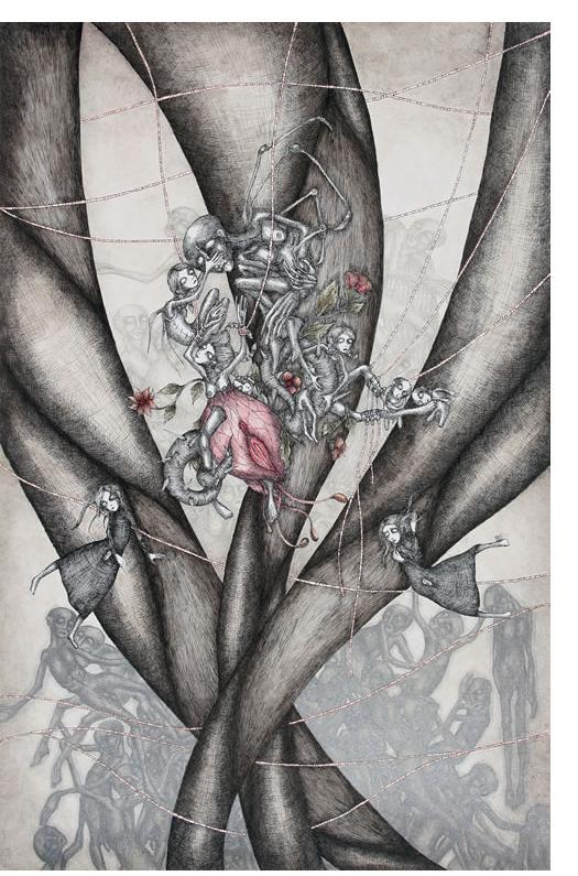 'Untitled' - 25 x 32.5 cm, crayon & pencil- Ruzena Outsider Artist