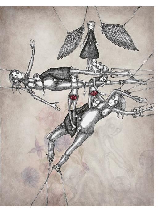'Untitled' -25 x 32.5 cm, crayon & pencil- Ruzena Outsider Artist