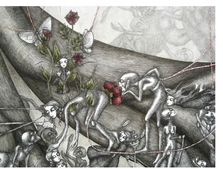 'Untitled' - 25 x 32.5 cm, crayon & pencil - Ruzena Outsider Artist