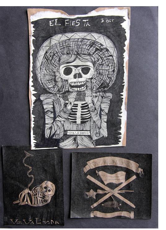 Salma : 'Untitled'  c.2011  ink  11.5 x 8.5 ins
