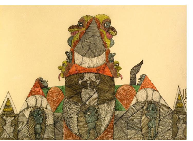 Scottie Wilson - 'Untitled'