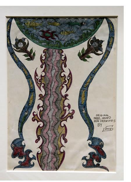 Scottie Wilson - 'Free Hand Pen Drawings by Scottie' 1935  crayon & ink   14 x 10 ins