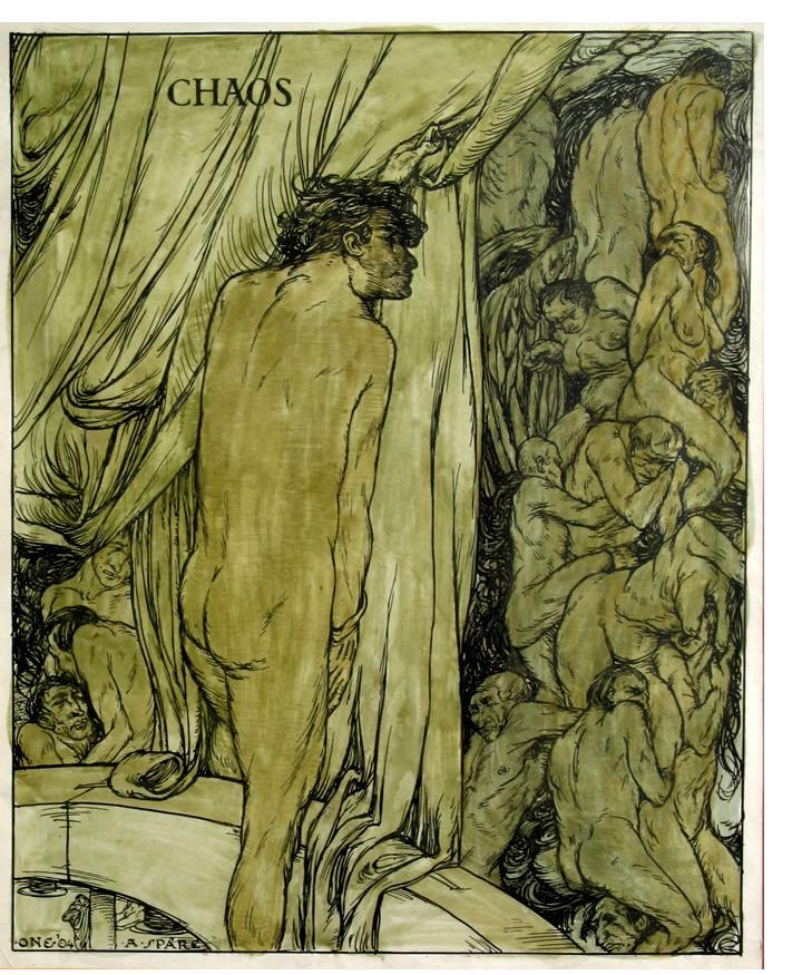 Austin Spare - 'Chaos' 1904 ink & watercolour 11.5 x 9 ins