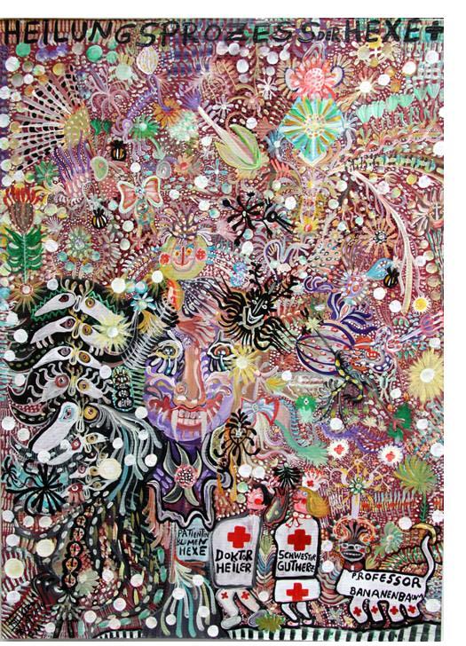 Stefan: 'Doktor' 2015  acrylic  28 x 20 ins - Outsider Art