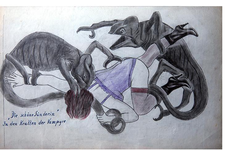 "Anon. Fetish Artist - ""The Beautiful Sinner"" - 20 x 30cm"