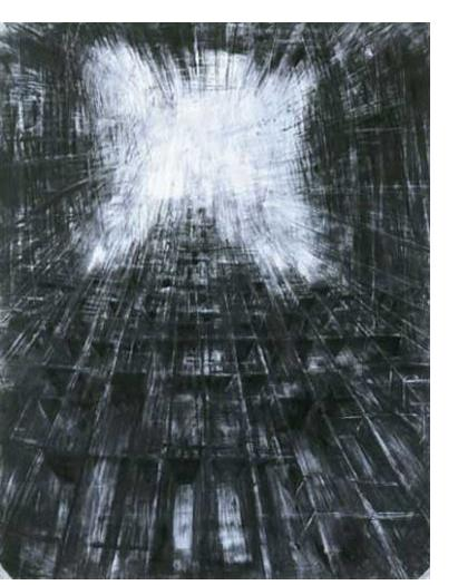 Alessia Avellino :'This Side', Charcoal on Paper, 180cm x 150cm / 6 x 5 ins