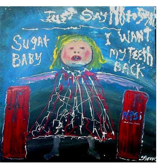 William Thomas Thompson :'Sugar Baby' - 40 x 40