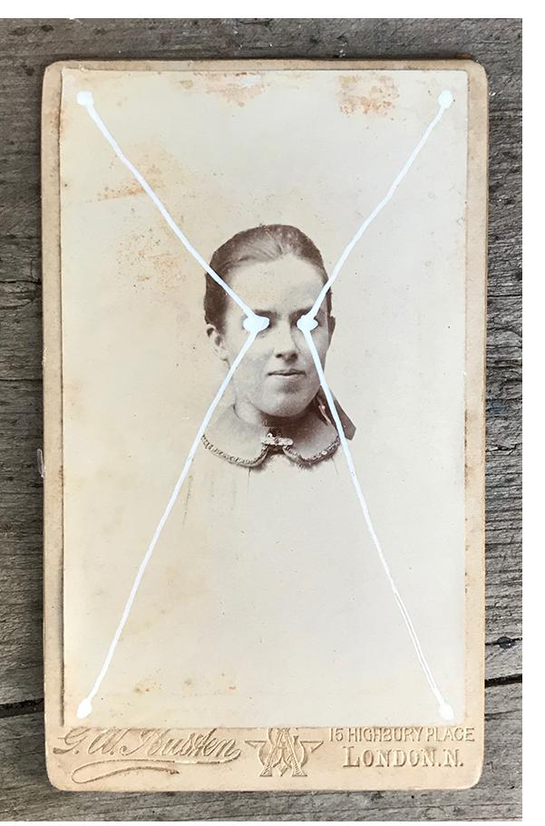 THE LIGHT IS LEAVING US ALL #2617 - small cabinet card, hand-painted and signed £111