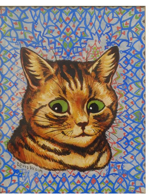 Louis Wain :'My Wallpaper' c.1932  gouache  8.75 x 7.5 ins