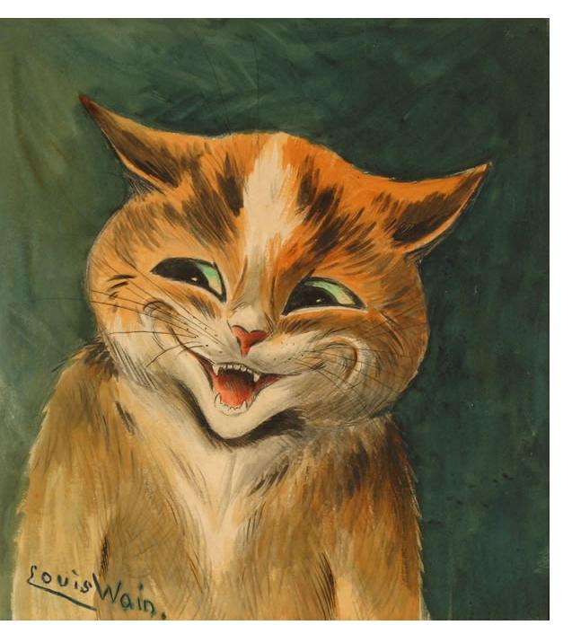 Louis Wain :'The cat who got the cream' c.1920 watercolour 11 x 10 ins
