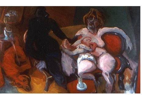 Francis West :'Ennui' - 1987, oil on canvas, 50 x 82 ins