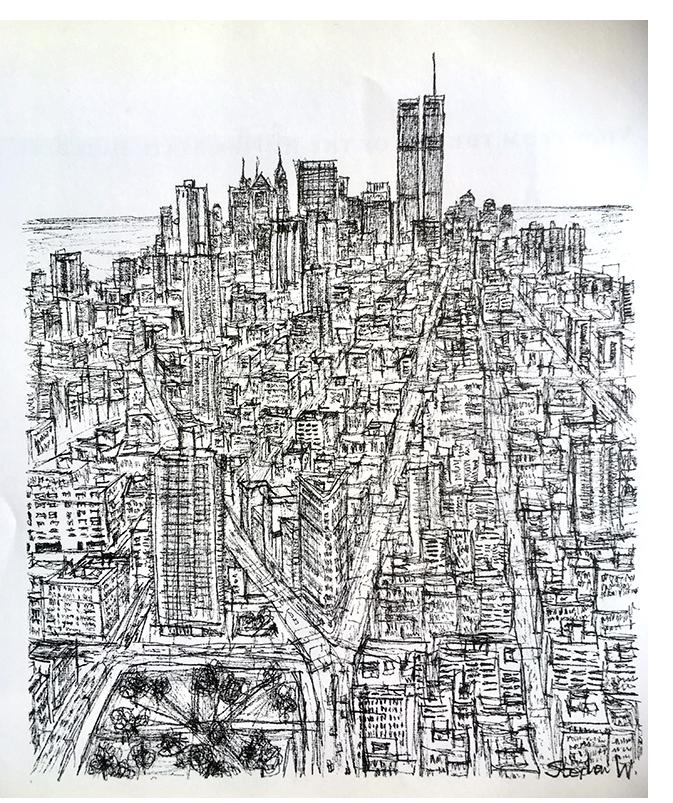 Stephen Wiltshire: 'Untitled'